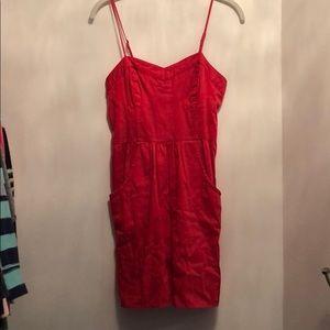 Mossimo Red Mini Dress w/ pockets